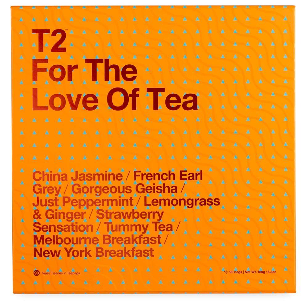 T2 Tea For The Love of Tea Assorted Tea Sampler Gift Box 180 g