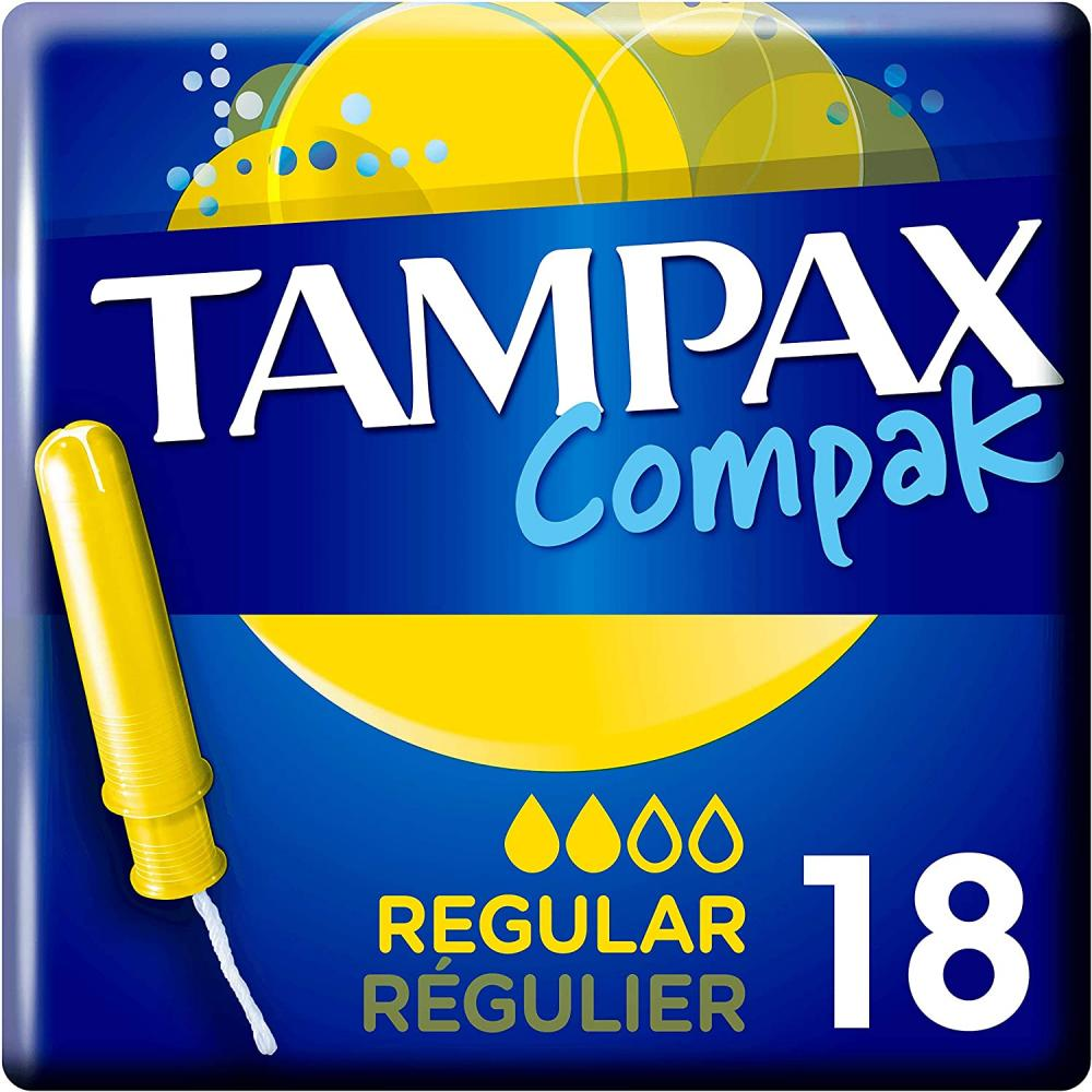 Tampax Compak Regular 18 Tampons
