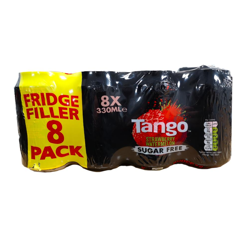 Tango Strawberry and Watermelon Sugar Free 8x330ml
