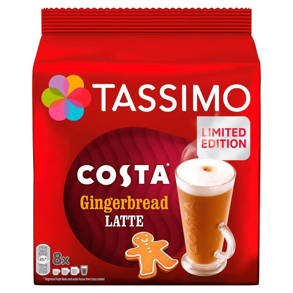 Tassimo Costa Gingerbread Latte Coffee Pods 271.2g