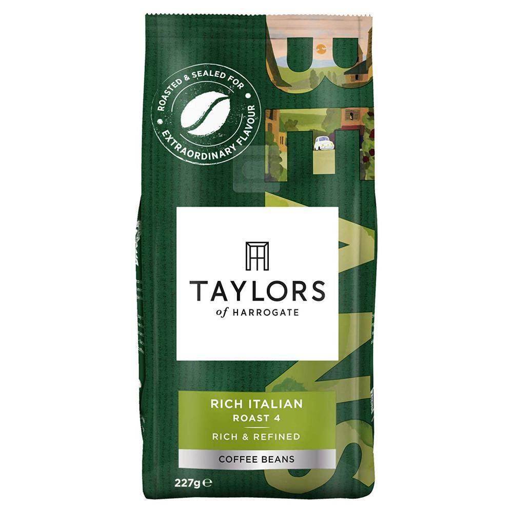 Taylors Of Harrogate Rich Italian Roast 4 Coffee Beans 227g