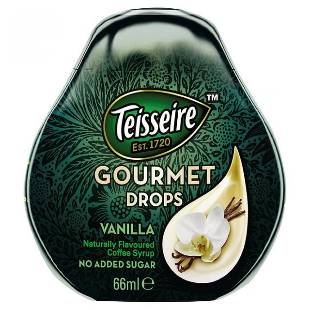 Teisseire Gourmet Drops - Sugar Free Coffee Syrup Vanilla 66 ml