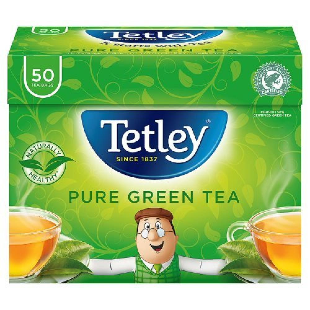 Tetley Pure Green Tea Bags 50 tea bags