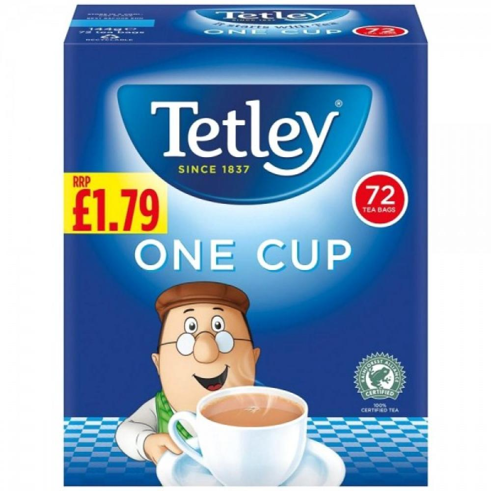 Tetleys One Cup 72 Tea Bags 144g