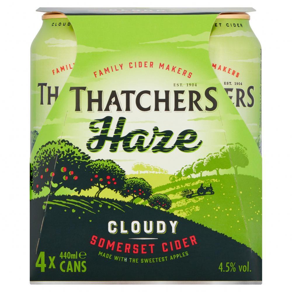 Thatchers Haze Cloudy Somerset Cider 4 x 440ml