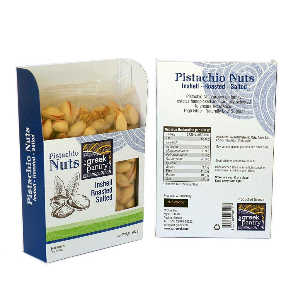 The Greek Pantry Inshell Aegina Pistachio Nuts Roasted LUCKY DIP 200g