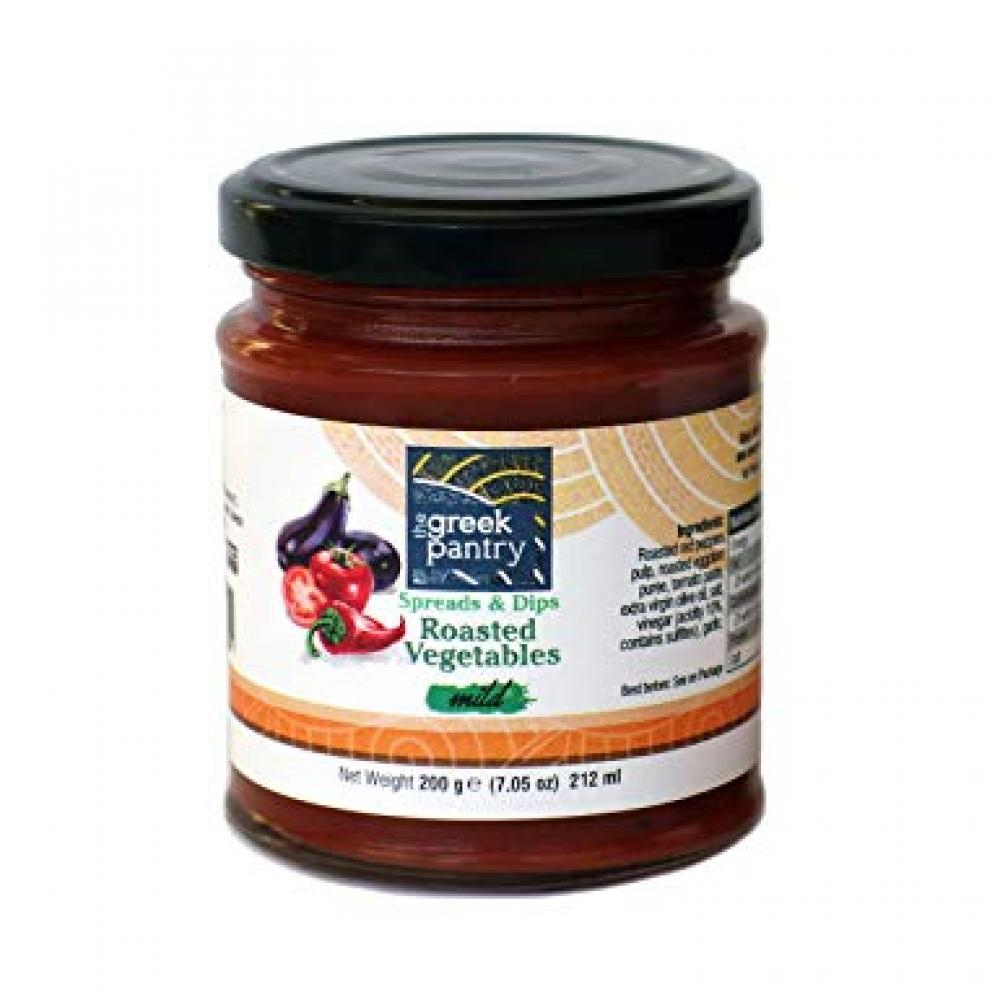 The Greek Pantry Spreads And Dips Mild Roasted Vegetables 200g