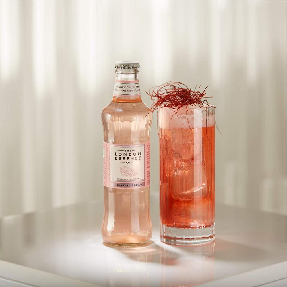 The London Essence Co Crafted Soda Rhubarb and Cardamom 200 ml