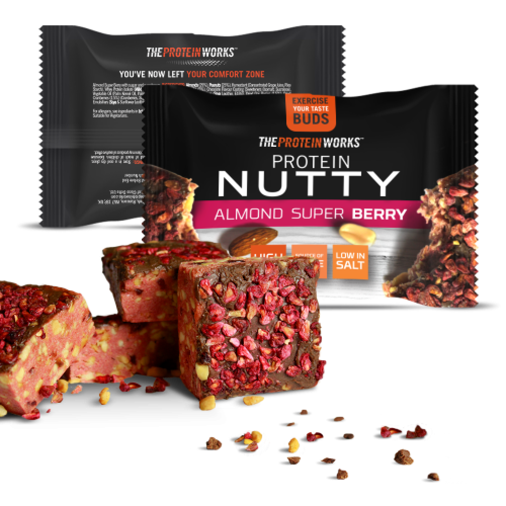 The Protein Works Protein Nutty Almond Super Berry 40g