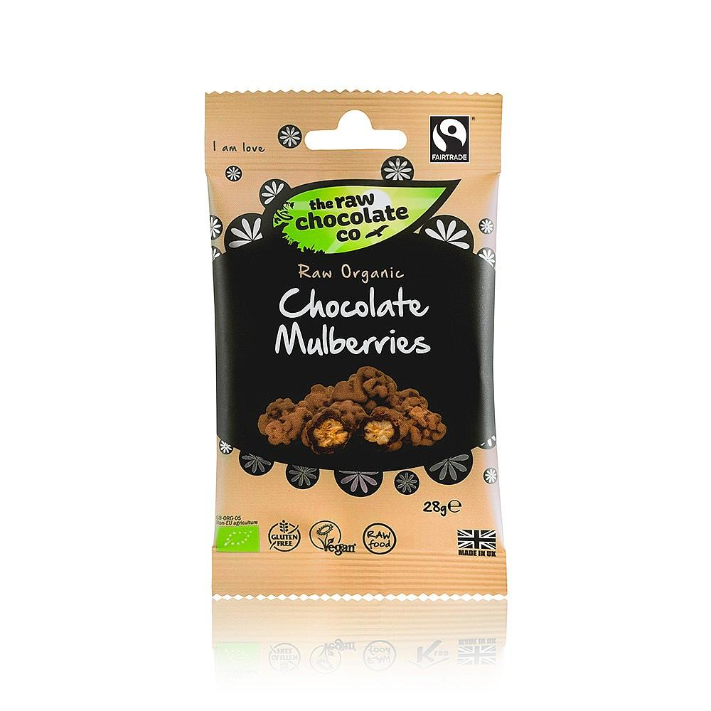 The Raw Chocolate Co Chocolate Mulberries 125 g