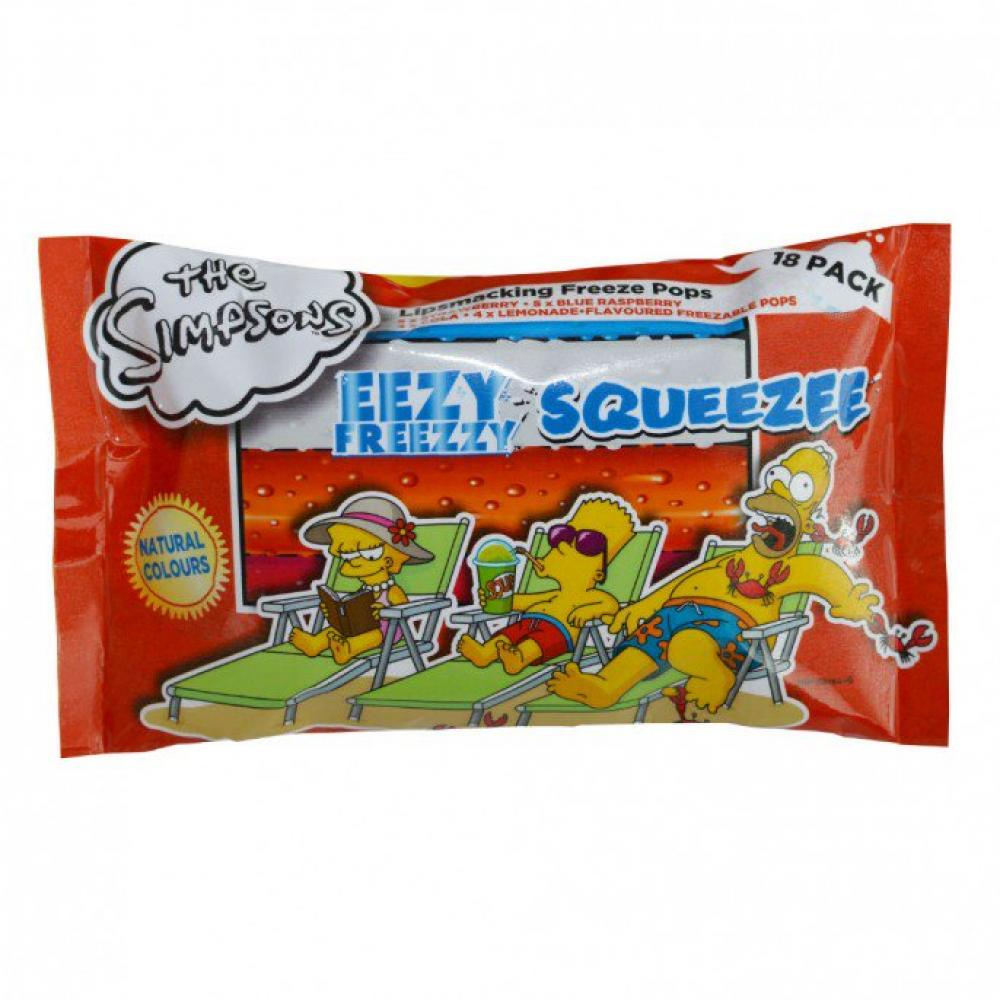 The Simpsons Eezy Freezzy Squeezee 18 pack
