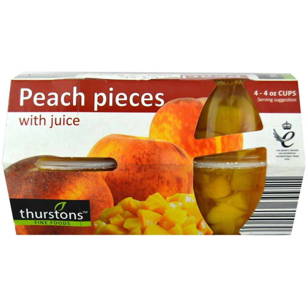 Thurstons Peach Pieces with Juice 120g x 4