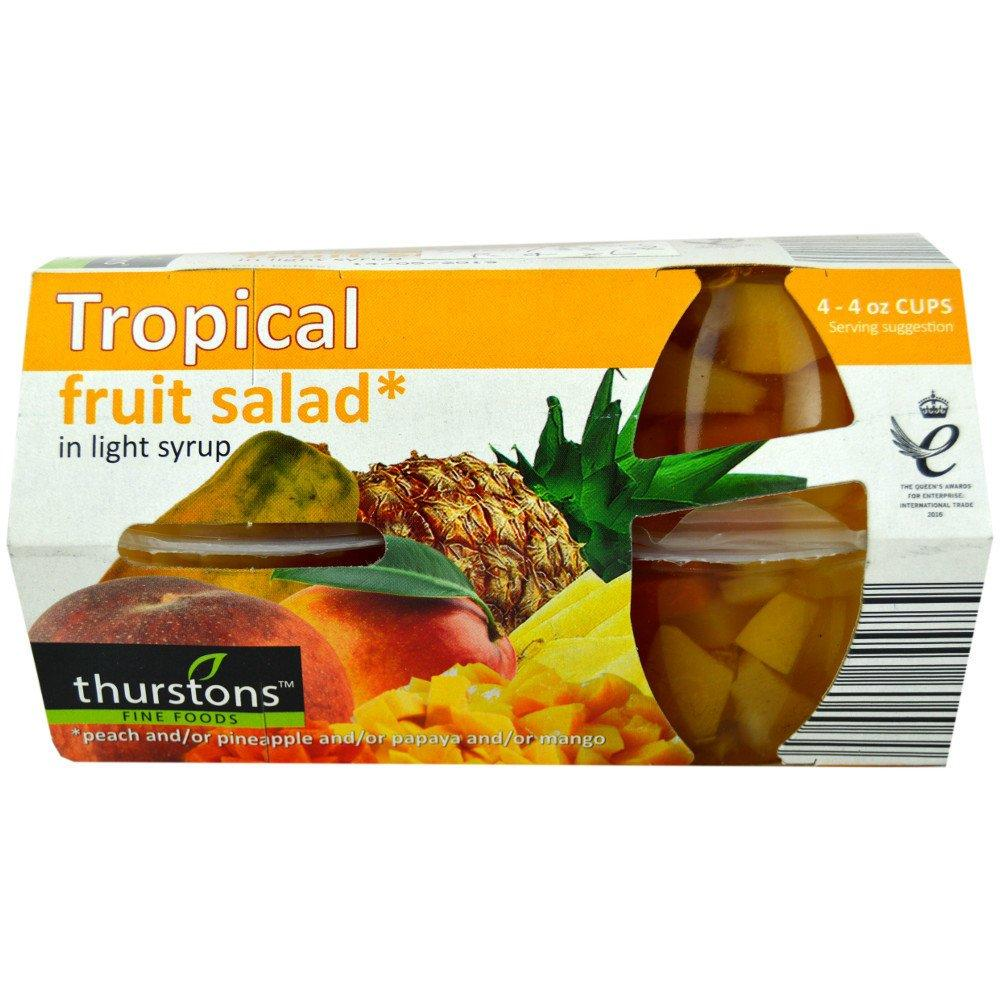 Thurstons Tropical Fruit Salad in Light Syrup 120g x 4