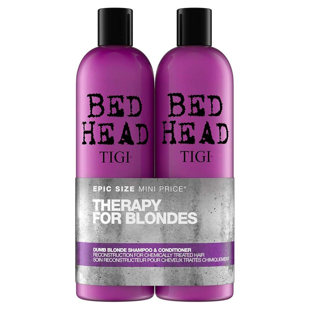 TIGI Bed Head Dumb Blonde Therapy For Blondes Hair Shampoo and Conditioner 2x750ml