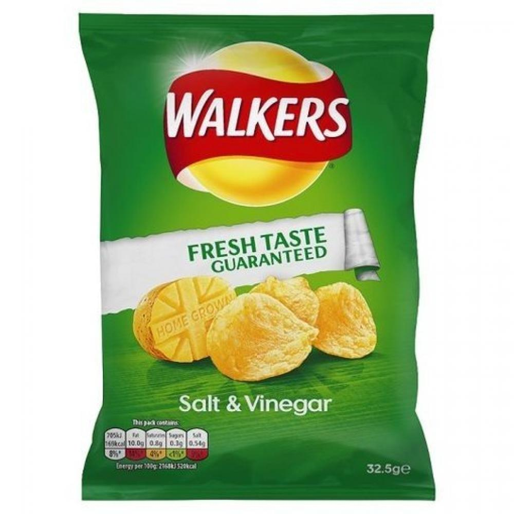 TODAY ONLY  Walkers Salt and Vinegar Flavour Crisps 32.5g
