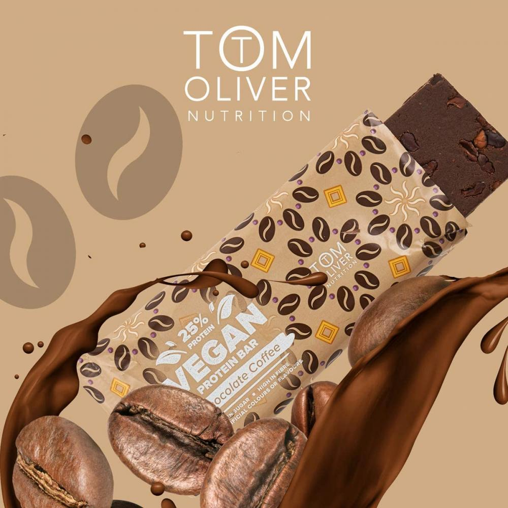 Tom Oliver Nutrition High Protein Bar (Chocolate Coffee) 55 g