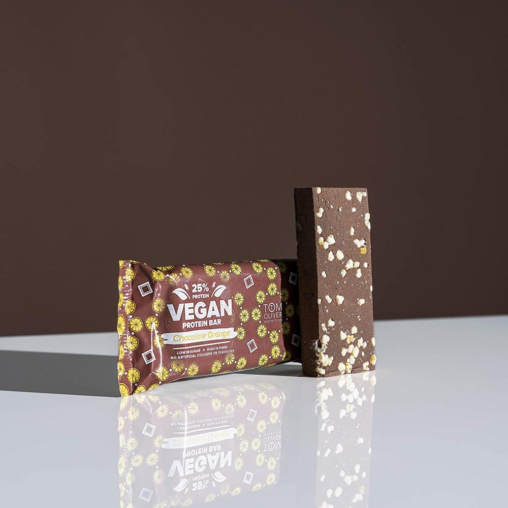 Tom Oliver Nutrition Vegan High Protein Bar Chocolate Orange 55g