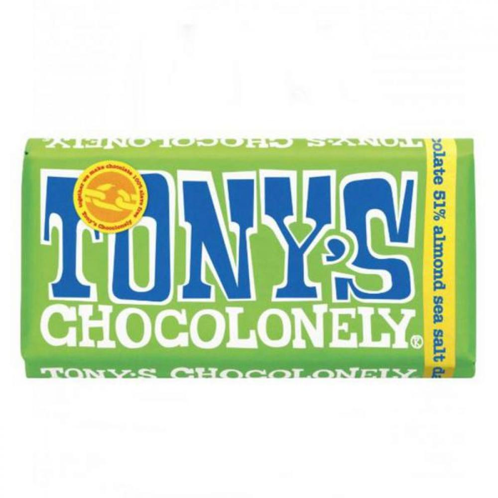 Tonys Choco Lonely Chocolate Almond Sea Salt 47g