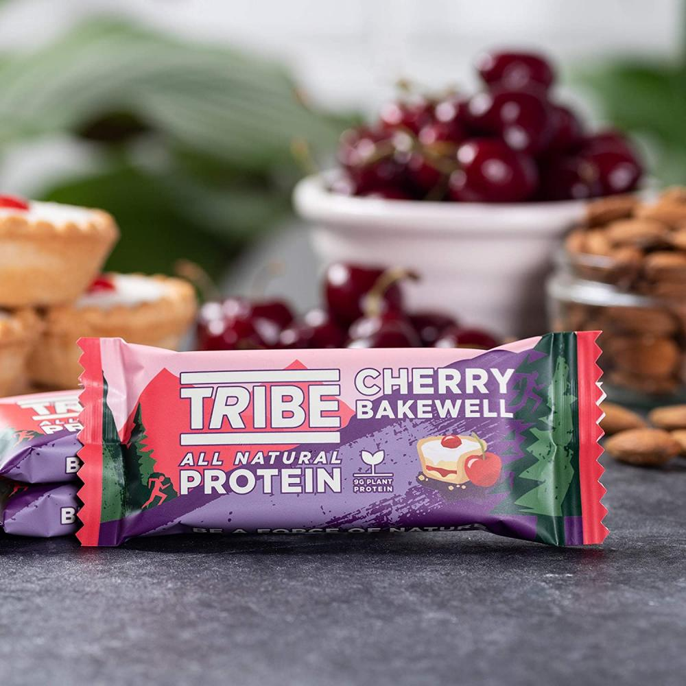 Tribe Nutrition Natural Vegan Protein Bar Cherry Bakewell Flavour 46 g