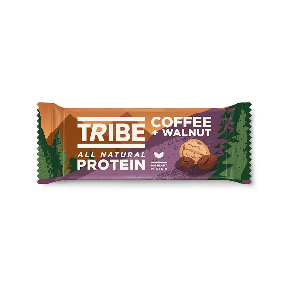 Tribe Nutrition Natural Vegan Protein Bar Coffee and Walnut Flavour 50g