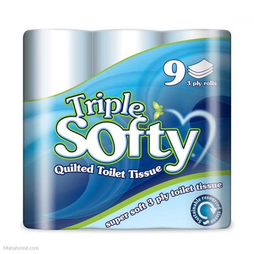 Triple Softy Quilted Toilet Tissue 9 Rolls