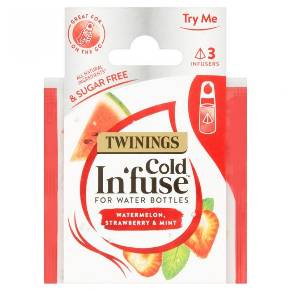 WEEKLY DEAL CASE PRICE  Twinings Cold Infuse Watermelon Strawberry and Mint 9 x 3 Infusers