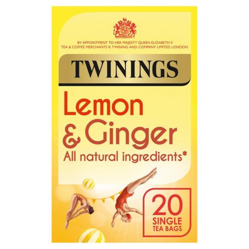 Twinings Lemon and Ginger 20 Tea Bags