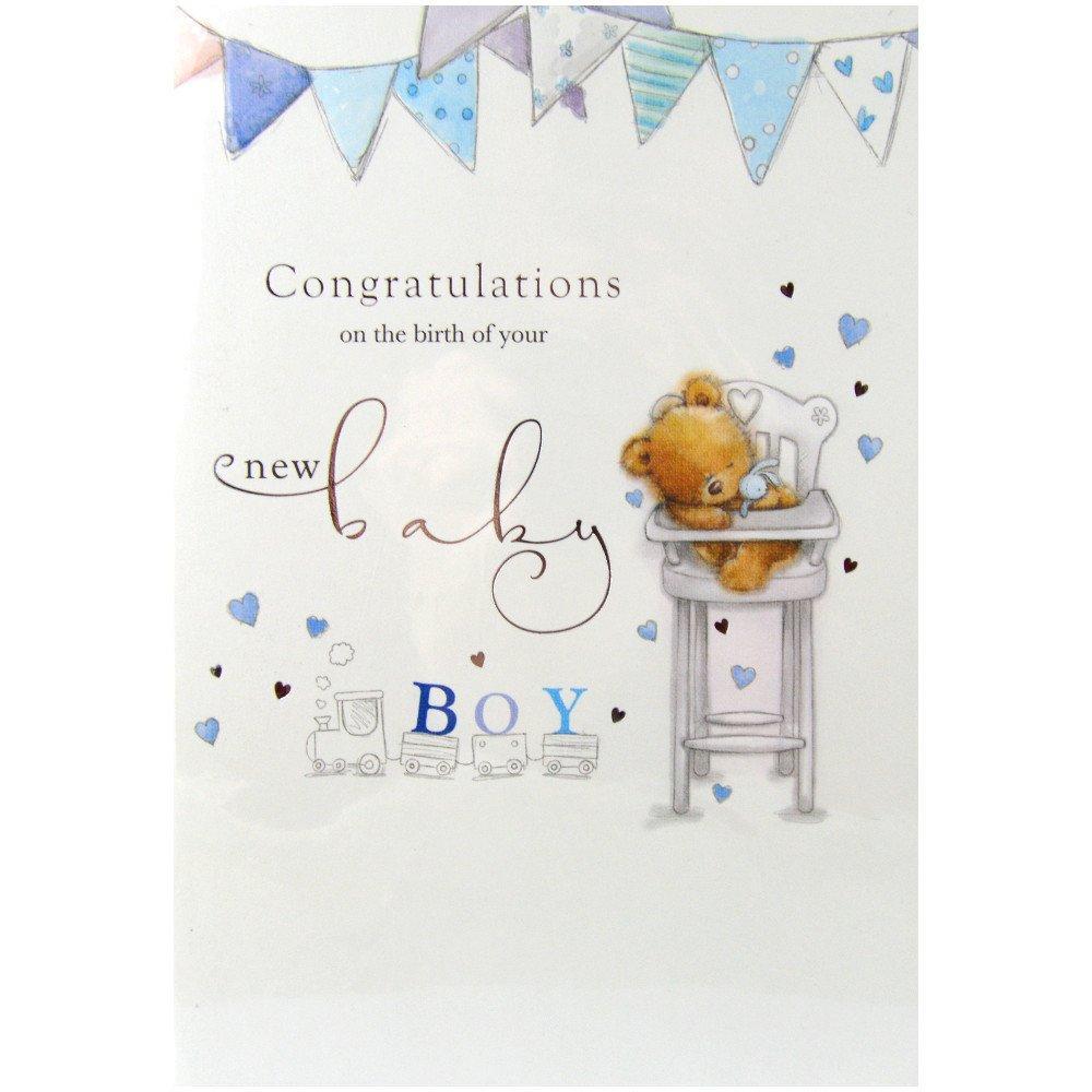 Unbranded Congratulations Baby Boy Card