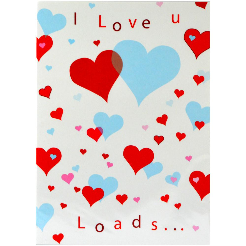 Unbranded I Love You Loads Valentines Day Card 50 pack