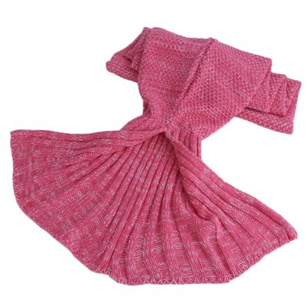 Unbranded Kids Mermaid Blanket Pink