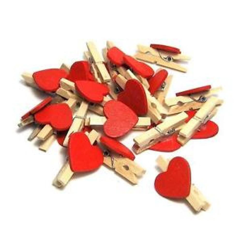 Unbranded Mini Heart Shaped Pegs