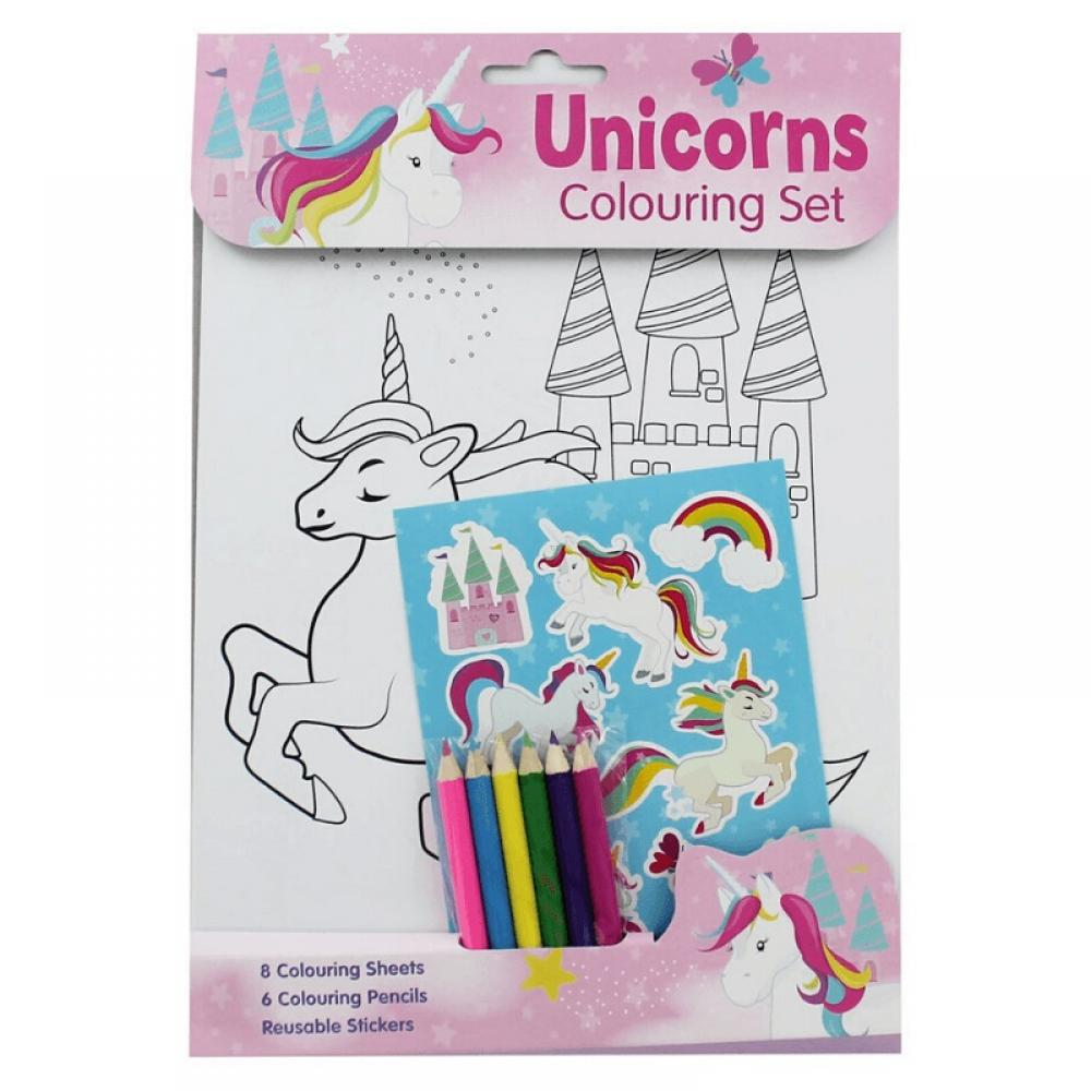 Unicorn Colouring Set