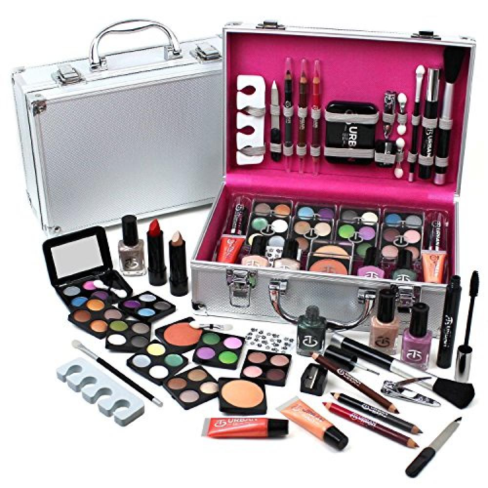 Urban Beauty Vanity Case Cosmetic Make Up Urban Beauty Box Travel Carry Gift Storage 60 Piece