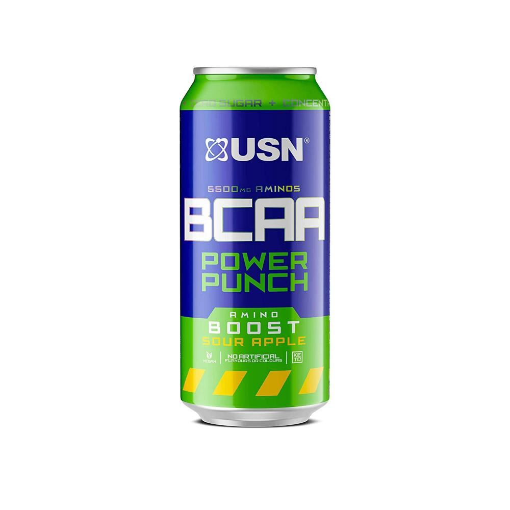 USN BCAA Power Punch Can Sour Apple 330 ml
