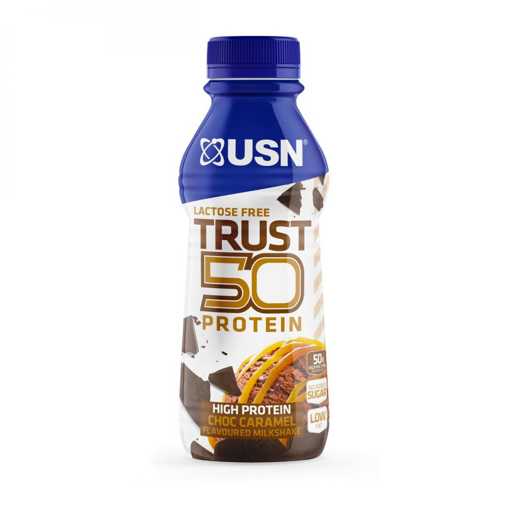 WEEKLY DEAL  USN Trust 50 Protein Milkshake Chocolate Caramel 500 ml