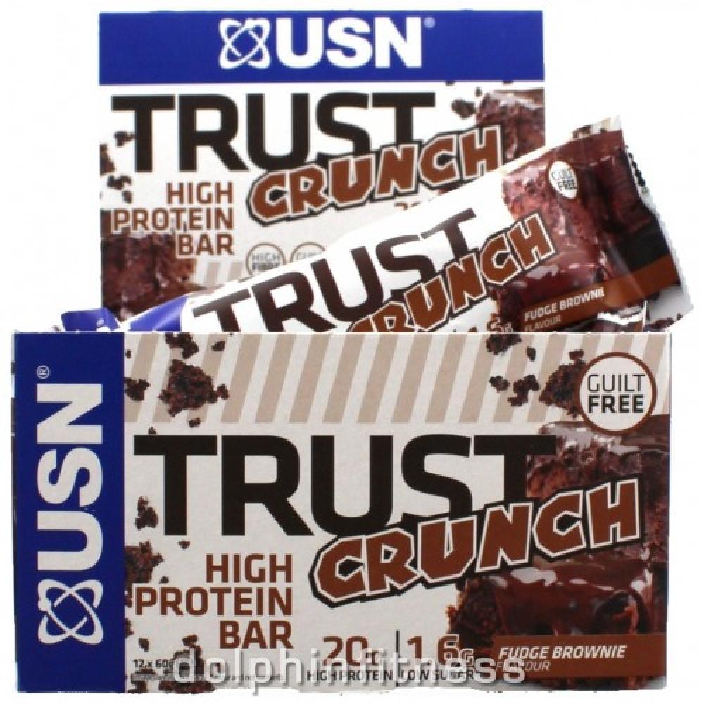 USN Trust Crunch High Protein Bar Fudge Brownie Flavour 60g