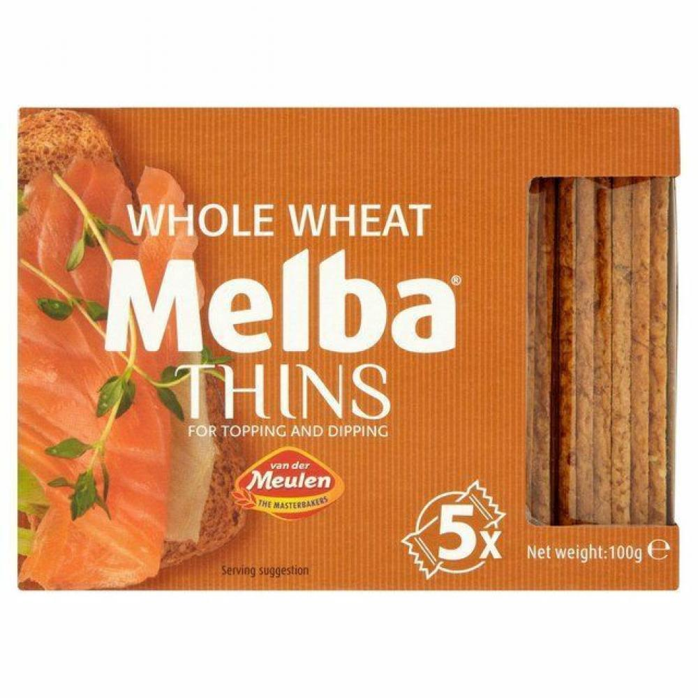 Van Der Meulen Melba Whole Wheat Thins 100g