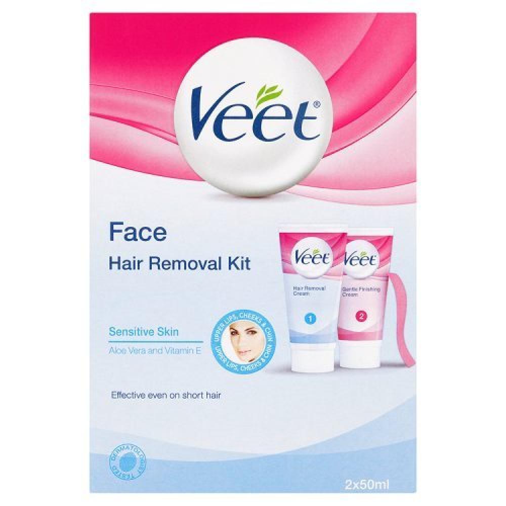 Veet Face Hair Removal Kit Sensitive Skin 50 ml