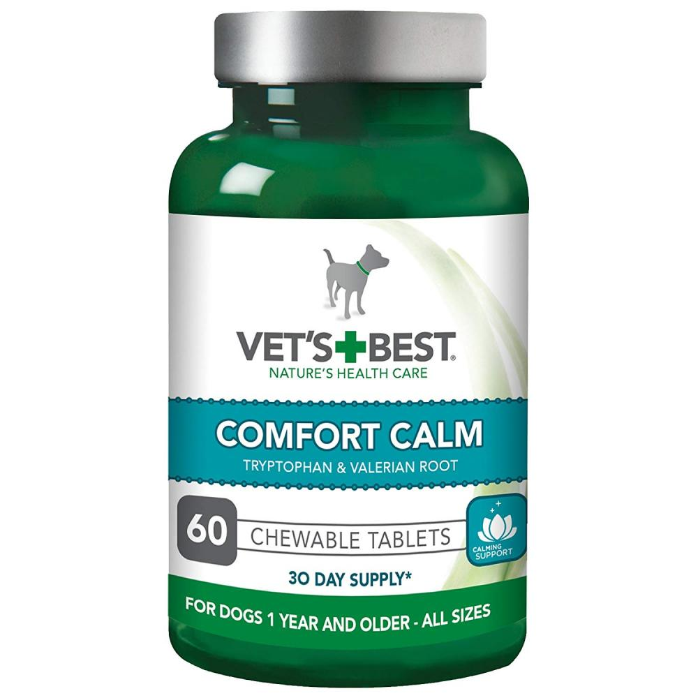 Vets Best Comfort Calm Stress Relief Dog Supplements 60 Tablets