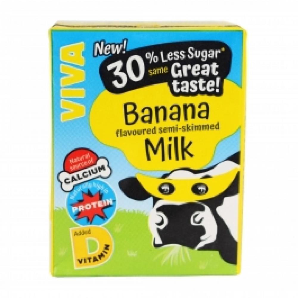 SALE  Viva Banana Flavour Milk 200ml