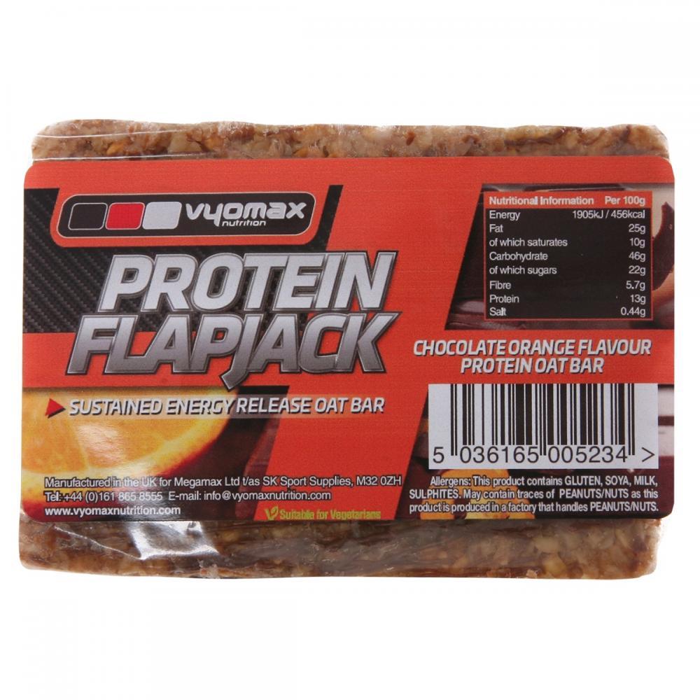 Vyomax Nutrition Chocolate Orange Protein Flapjack 100g