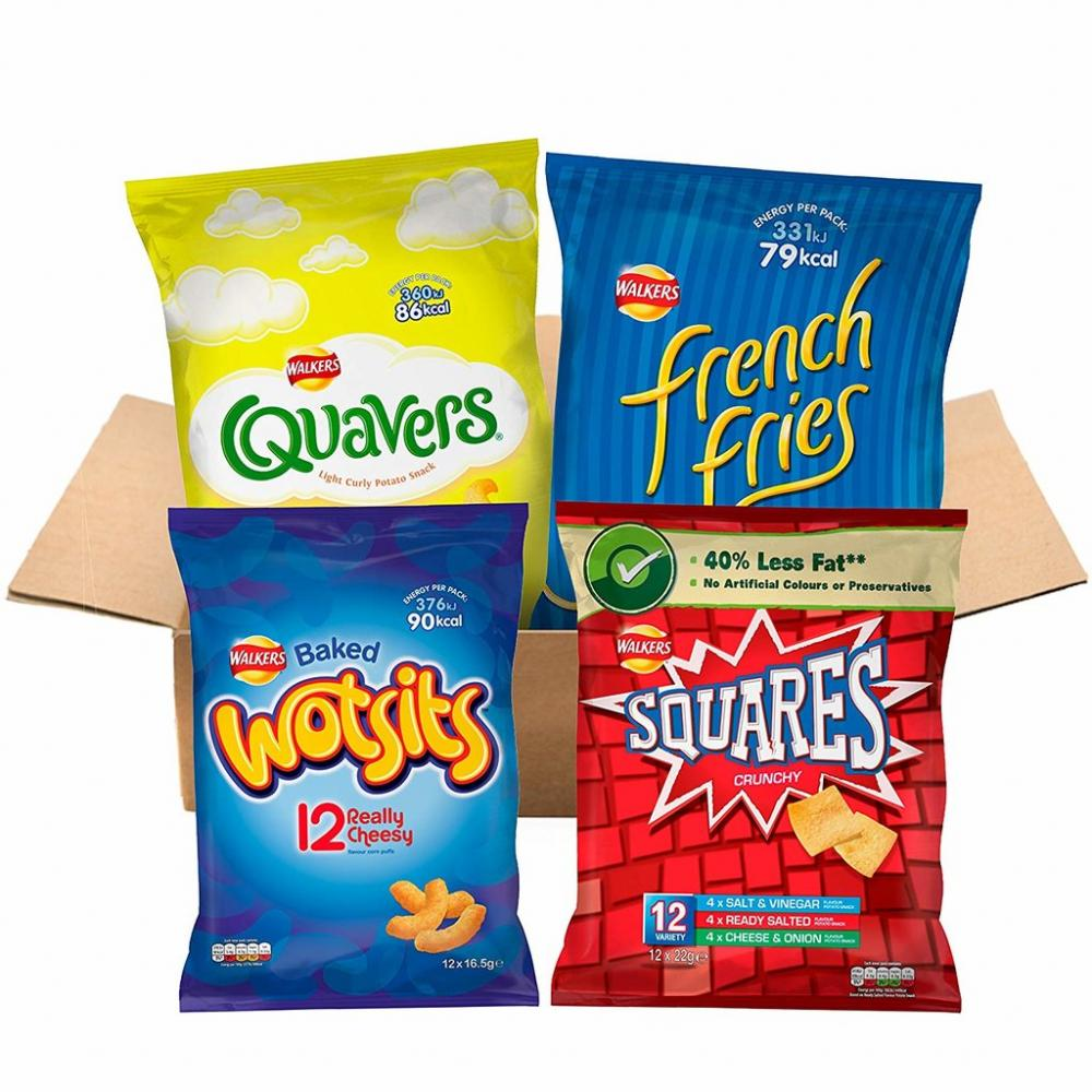 LEAVE IN RESERVE  Walkers <100 Cal Lunchbox Snacks Box