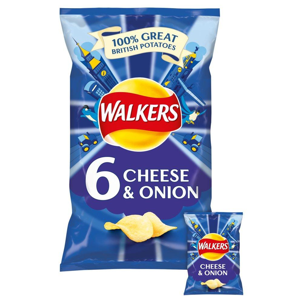 Walkers Cheese and Onion 25g x 6