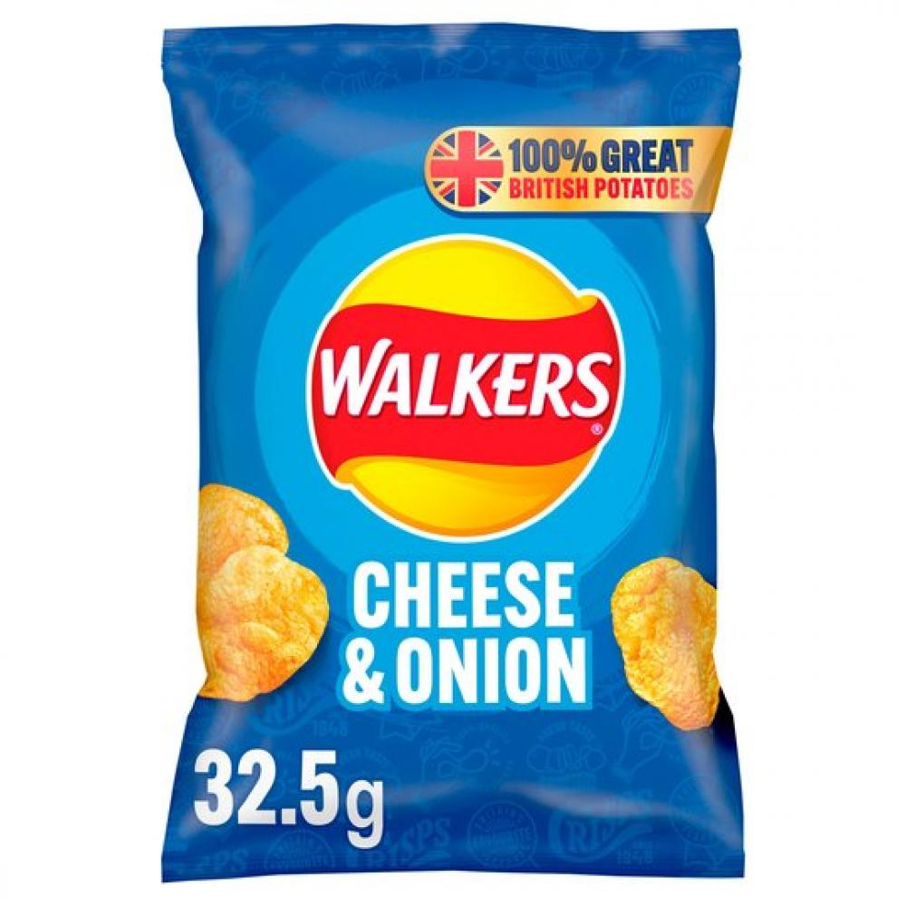 Walkers Cheese and Onion Flavour Crisps 32.5g