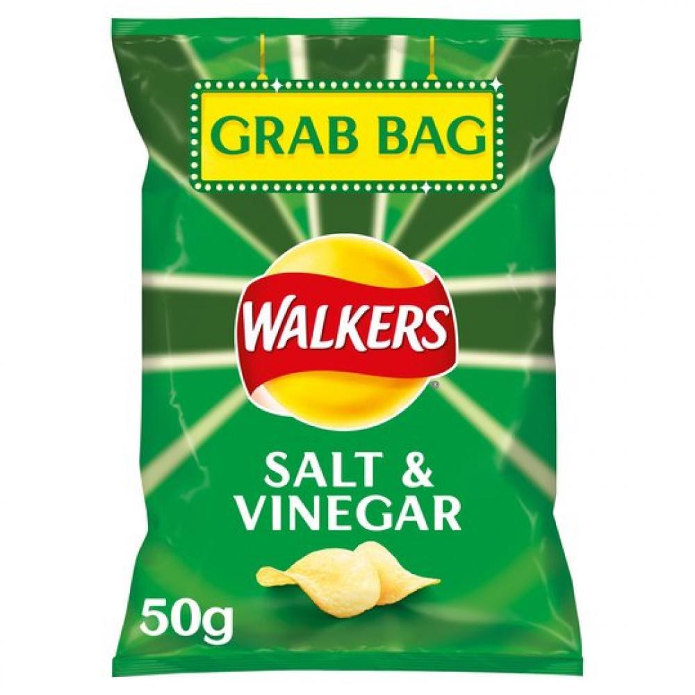 Walkers Grab Bag Salt and Vinegar Flavour Crisps 50g