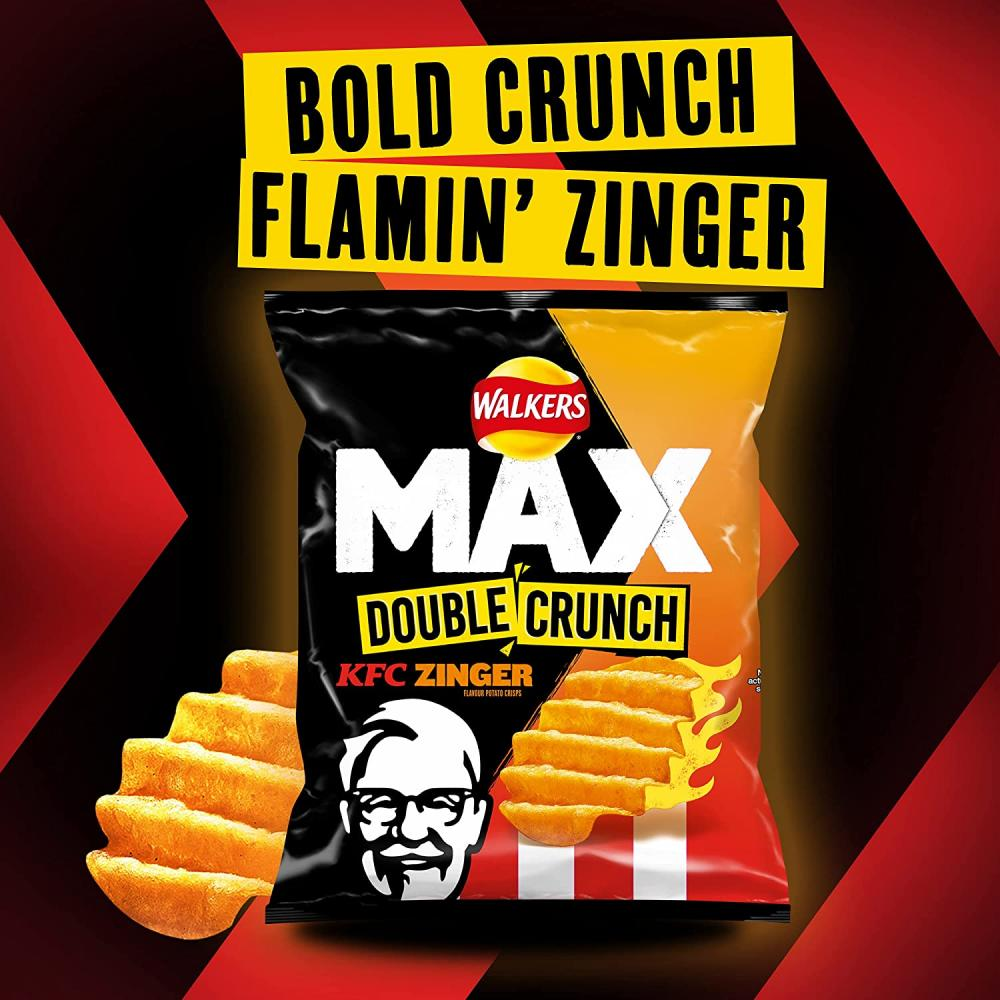 Walkers Max Double Crunch KFC Zinger Sharing Crisps 140g
