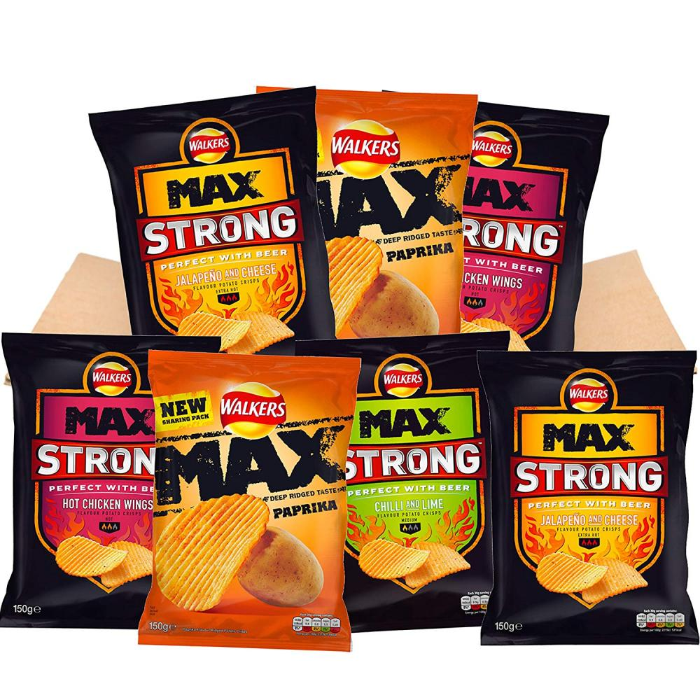 Walkers Max Strong Bundle Crisps x7 150 g