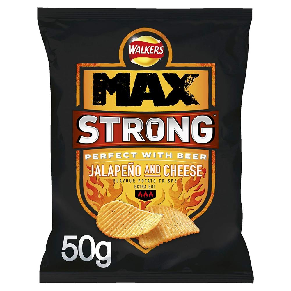 Walkers Max Strong Jalapeno and Cheese Flavour 50g