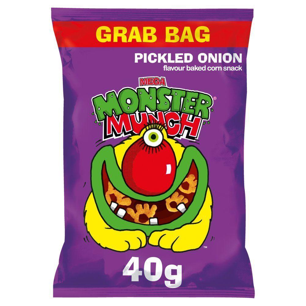 Walkers Mega Monster Munch Pickled Onion Snacks 40g