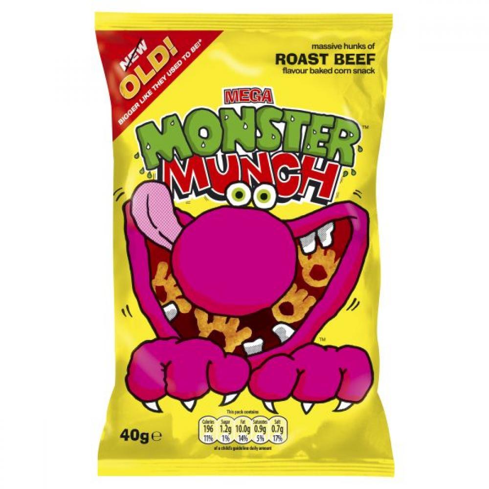 Walkers Mega Monster Munch Roast Beef Snacks 40 g